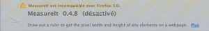 Addon MeasureIt non compatible avec Firefox 5.0