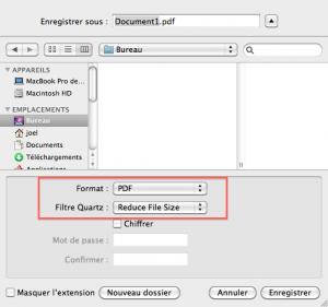 Comment compressé un fichier pdf sous Mac OS X