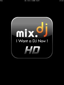 Screenshot de la page d'accueil de mix.dj Pro pour iPad