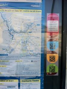 Qr Code d'arrêt de bus en zoom