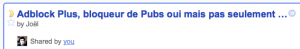 Intégration de Read It Later dans Google Reader