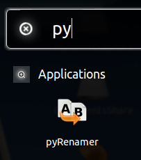 Icône du logiciel de renommage PyRenamer