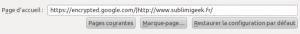 Capture écran Firefox en multiple page d'accueil