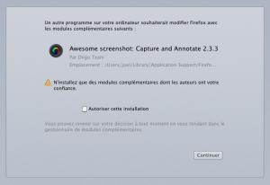 Avertissement de sécurité Firefox