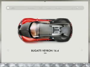 Imprime écran de l'interface Road Inc pour la Bugatti Veyron