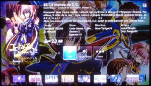 Menu avancé pour l'affichage d'un animé sous Plex via une AppleTV