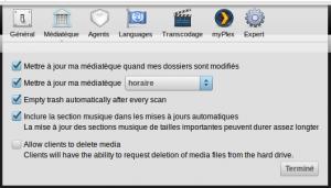 Paramétrage de l'entretien de la base de données PlexMediaServer