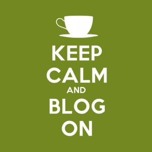 Illustration keep calm and blog on