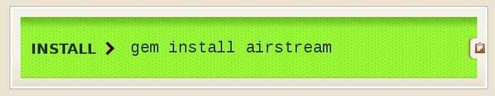 RubyGems Airstream
