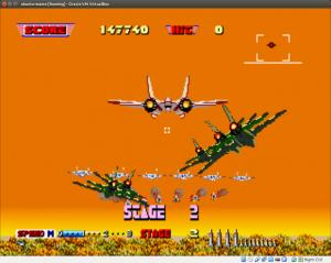 Une petite partie d'AirBurner2 sous MAME, ça vous tente ?